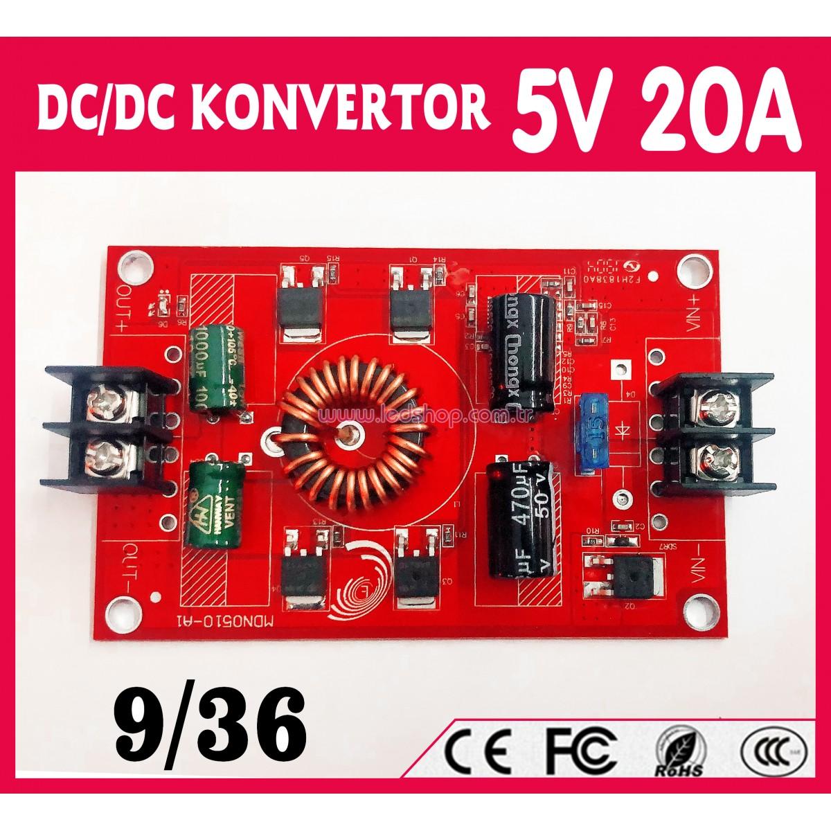 DC/DC  5V 20 Amper