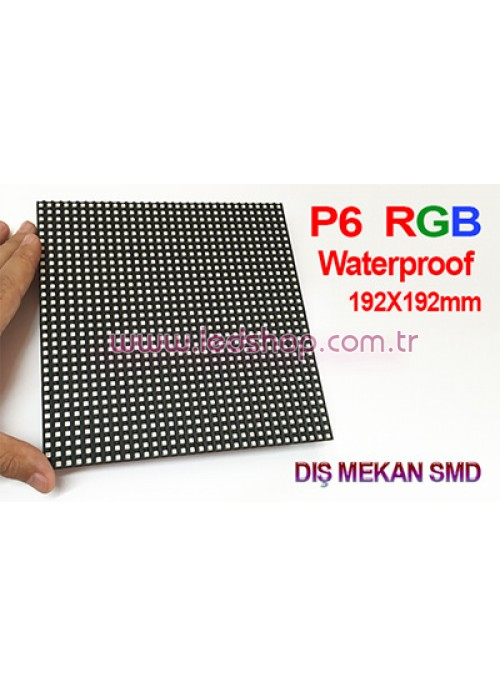 P6 RGB DIŞ MEKAN LED PANEL 192X192 mm