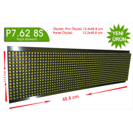 P7,62 8S dip yeşil led panel 16X64