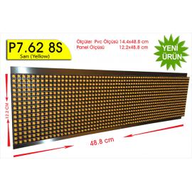 P7,62 8S dip led panel Sarı 16X64