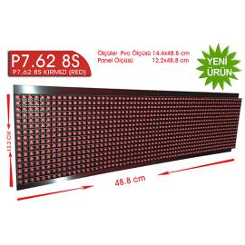 P7,62 8S dip  led kırmızı 16X64